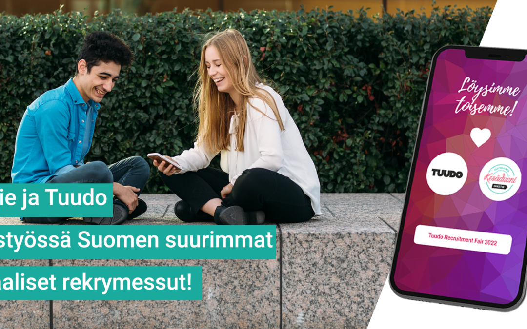 Ensi vuonna tapahtuu isosti! Suomen suurin korkeakoulutettavien rekrytapahtuma on Tuudon ja Oikotien yhteistyön tulos